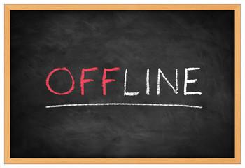 Offline blackboard background concept