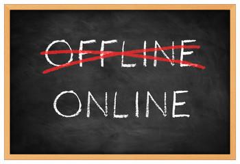 Online blackboard background concept