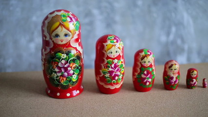 Russian nesting dolls, matryoshka
