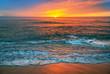 Leinwandbild Motiv Beautiful cloudscape over the sea, sunrise shot.