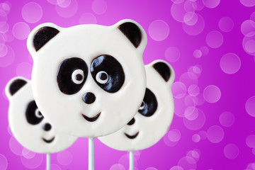lollipop in the form of an panda