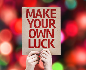 Make Your Own Luck card with colorful background