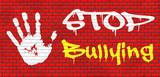 stop bullying graffiti poster