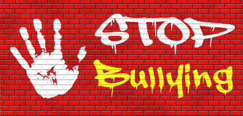 stop bullying graffiti