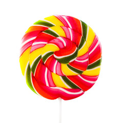 round colorful lollipop