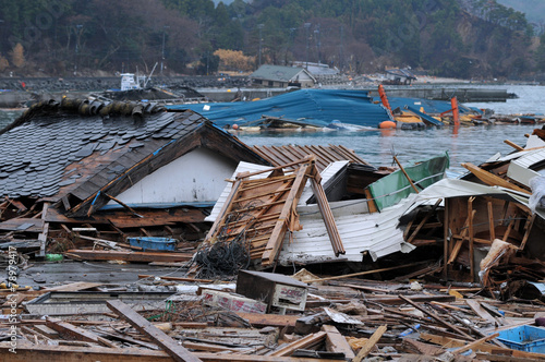 Leinwandbild Motiv 東日本大震災津波被害