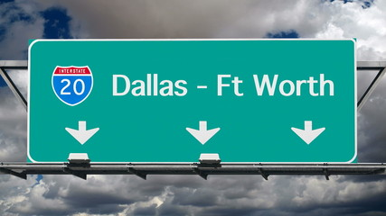 Dallas Interstate 20 Freeway Sign Time Lapse