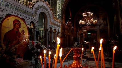 Orthodox Church in front of Celebratory divine service.