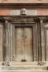 Ancient carved door