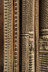 Intricate carving and Wooden work on the door