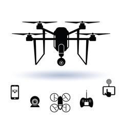Drone icon set, Vector.