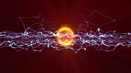 plasma ball fire 4k