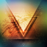 Fototapety Abstract triangle future vector background