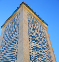 the history in maroc africa  minaret religion and  blue    sky