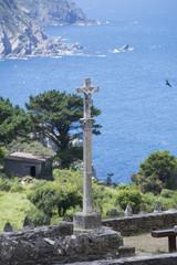 Cruceiro gallego en San Andres de Teixido (La Coruña, España).
