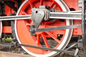ruota di un vecchio treno
