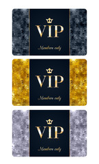 VIP cards with abstract background