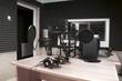 canvas print picture - radio studio