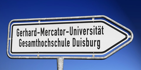 Wegweiser Uni Duisburg