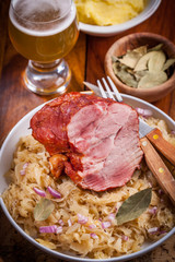 Smoked pork with cabbage