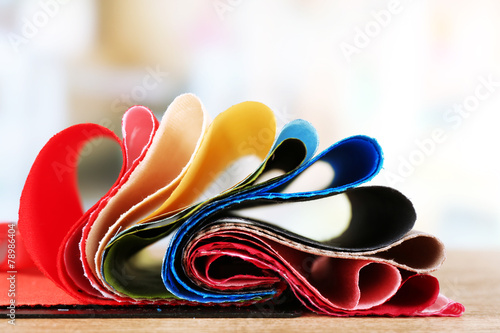 Colorful fabric samples - 78986404