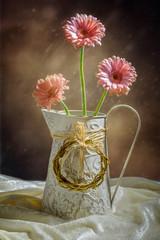 Vase Of Gerbera's