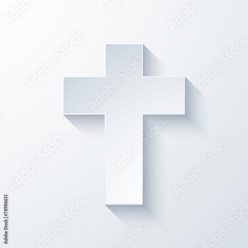 Vector modern religious cross icon - 78986631