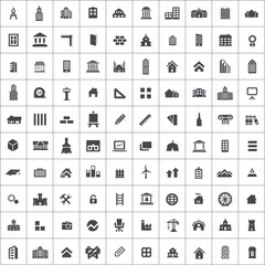100 architecture icons