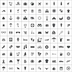 100 beach icons