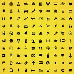 100 birthday icons