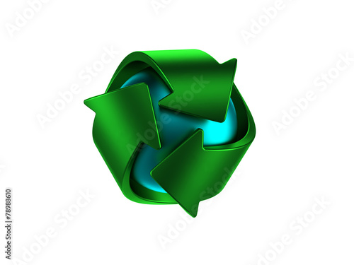 canvas print picture Recycle logo