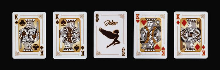 Spielkarten - Poker - Könige Vierling im Spiel