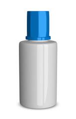 White bottle isolated
