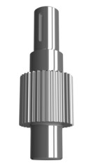 Steel gear shaft isolated