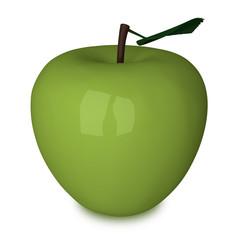 Green plastic apple