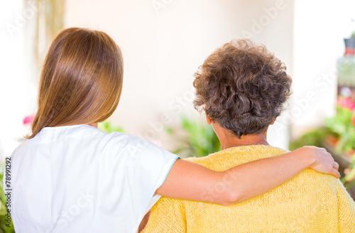 Leinwanddruck Bild Elderly home care