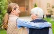 Leinwanddruck Bild - Elderly care