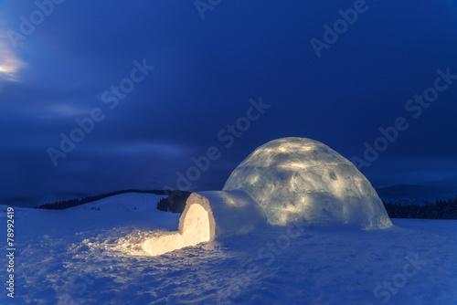 Leinwanddruck Bild igloo