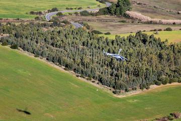 Elicottero e paesaggio