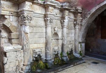 Rimondi Fountain in  Rethymno, Crete, Greece