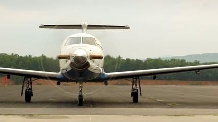 Jet Airplane Prepares for Flight