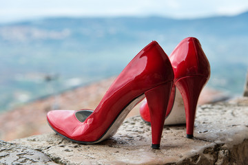 femicide , red shoes