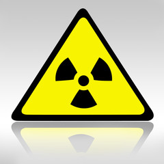 Sign of radioactive substances