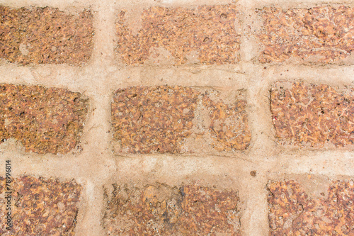 canvas print picture Laterite stone wall background