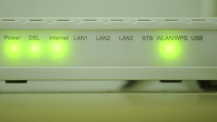 Router Internet, close up