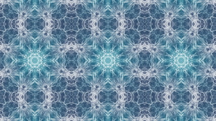 Mystical abstract kaleidoscope background animation. Seamless