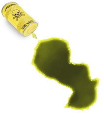 Toxic waste in the shape of Paraguay (series)