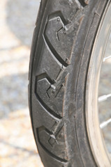 part of the wheel from the bicycle.