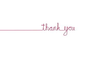 Handwritten THANK YOU text sign. Line separator, overlay, alpha