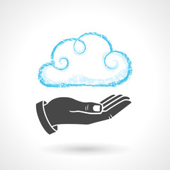 Cloud Computing Concept With Hand